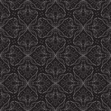 Seamless vector in baroque and rococo style. Linear vector pattern with silver lines forming flowers, elegant website background or holiday wrapping paper or Royalty Free Stock Images