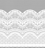 Seamless Vector Black Lace Stock Images