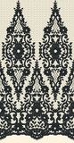 Seamless Vector Black Lace Stock Image
