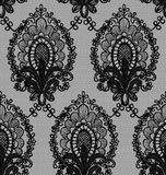 Seamless Vector Black Lace Stock Photo