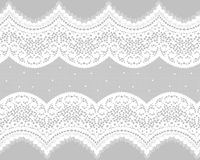 Seamless Vector Black Lace Royalty Free Stock Images
