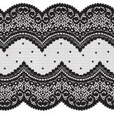 Seamless Vector Black Lace Royalty Free Stock Image
