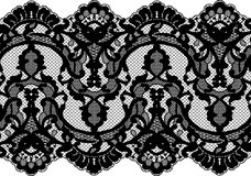 Seamless Vector Black Lace Stock Photography