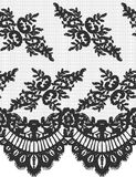 Seamless Vector Black Lace Royalty Free Stock Photos