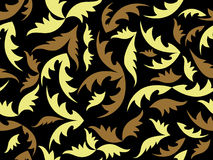 Seamless vector black texture with leaves Royalty Free Stock Images