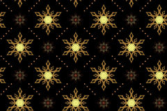 Seamless vector black texture with snowflakes Royalty Free Stock Photo