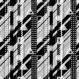 Seamless vector black, white grey geometrical pattern. Stock Photo