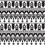 Seamless vector black and white pattern Stock Image