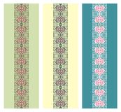 Seamless vector borders set royalty free stock images