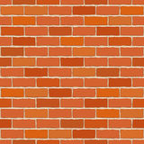 Seamless vector brick wall. Stock Photos