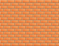 Seamless vector brick wall - background pattern Royalty Free Stock Photo