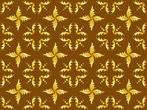 Seamless vector brown and gold texture Stock Photo