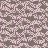 Seamless vector brown and pink pattern with retro flowers. For fabric, textile, wrapping, craft Royalty Free Stock Photography