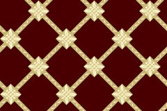 Seamless vector brown texture with rhombuses Stock Images