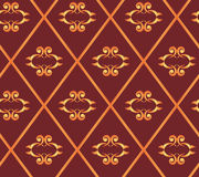 Seamless vector brown texture with rhombuses. Vector seamless brown texture with rhombuses Royalty Free Stock Photos