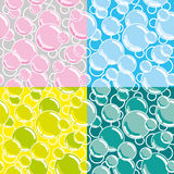 Seamless vector bubbles Stock Images