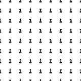 Seamless vector chaotic pattern with black chess pieces on the whitebackground. Royalty Free Stock Image