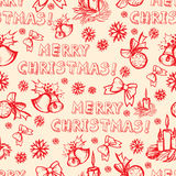 Seamless vector Christmas pattern Royalty Free Stock Photo
