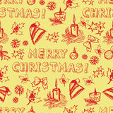 Seamless vector Christmas pattern Stock Photos