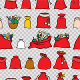 Seamless vector Christmas pattern. Royalty Free Stock Images