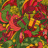 Seamless vector Christmas pattern. Decorative ornamental background Royalty Free Stock Photos