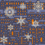 Seamless vector Christmas winter pattern. Stock Photo