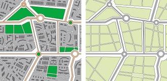 Seamless vector city map Royalty Free Stock Photo