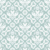Seamless Vector Classic Pattern. Seamless classic vector light blue and white pattern. Traditional orient ornament. Classic vintage background Stock Photos