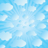 Seamless vector of clouds Stock Images