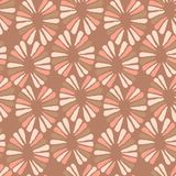 Seamless vector coffee pattern with retro flowers. For fabric, textile, wrapping, craft Stock Photography
