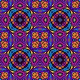 Seamless vector colorful Geometric design. Festive Colorful seamless vector pattern ornamental. Geometric print Stock Photography
