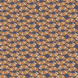 Seamless vector contrast pattern with retro flowers. For fabric, textile, wrapping, craft Stock Photography