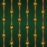 Seamless vector Cristmas pattern with stripes and stars.  Stock Image