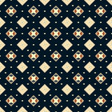 Seamless vector dark blue geometric square classic pattern Stock Photo