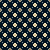 Seamless vector dark blue geometric square classic pattern Royalty Free Stock Photo
