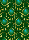 Seamless vector dark green floral texture. Seamless green vector floral texture stock illustration