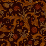 Seamless vector dark vintage floral pattern Royalty Free Stock Images