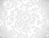 Seamless vector decorative floral wallpaper Royalty Free Stock Photography