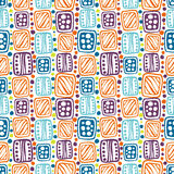 Seamless vector decorative hand drawn pattern. Stock Photography