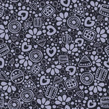 Seamless vector decorative hand drawn pattern Royalty Free Stock Photography