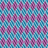 Seamless vector decorative hand drawn pattern. ethnic endless background with ornamental decorative elements with traditional etni Royalty Free Stock Photo