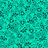 Seamless vector decorative hand drawn pattern. Stock Image