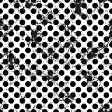 Seamless vector dotted pattern. Creative geometric black and white background with circles Royalty Free Stock Image