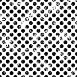 Seamless vector dotted pattern. Creative geometric black and white background with circles. Stock Image