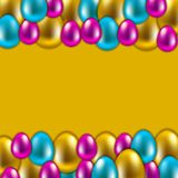 Seamless vector easter background Stock Image