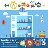 Seamless Vector Education to Success Design Stock Photos