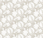 Seamless vector fancy floral wallpaper Stock Image