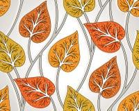 Seamless fancy leaves wallpaper stock illustration