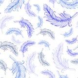 Seamless vector feather pattern stock illustration
