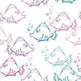 Seamless vector fish background Royalty Free Stock Photo
